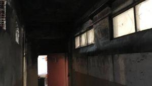 Tepecik Ortaokulunda yangın büyümeden söndürüldü