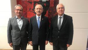 Başkan Selvitopu'ndan Genel Başkan Kılıçdaroğlu'na geçmiş olsun ziyareti