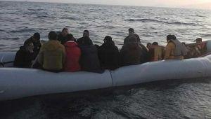 Menderes açıklarında 119 göçmen yakalandı