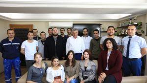 Gençlik Kolarından Başkan İnce'ye Ziyaret