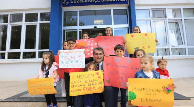 Güzelbahçeli Çocuklardan 'Ekrem Abileri'ne destek