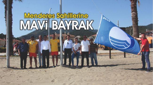 Menderes Sahillerine Mavi Bayrak