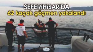 Seferihisar'da 62 kaçak göçmen yakalandı