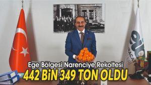 Ege Bölgesi Narenciye Rekoltesi 442 bin 349 ton