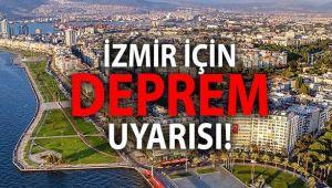 İMO'dan İzmir için deprem uyarısı!