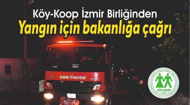 Köy-Koop'tan yangın için bakanlığa çağrı