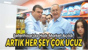 Seferihisar'da Halk Market Açıldı