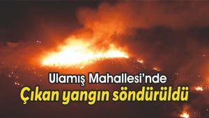 Ulamış Mahallesinde çıkan yangın söndürüldü
