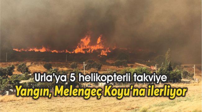 Yangın, Melengeç Koyu'na ilerliyor