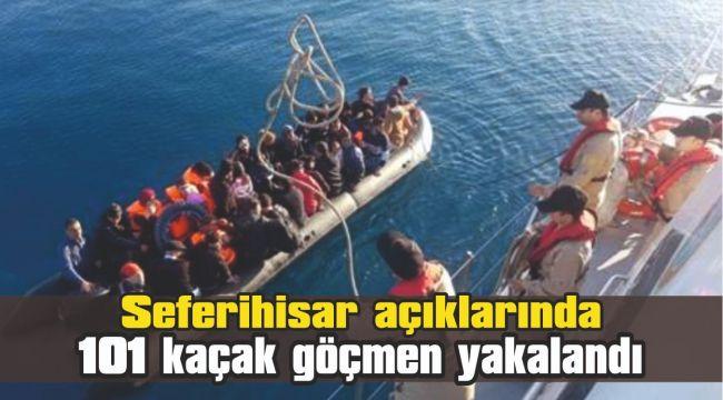 Seferihisar açıklarında 101 kaçak göçmen yakalandı