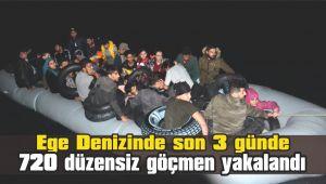 Ege Denizinde 720 düzensiz göçmen yakalandı