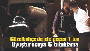 Güzelbahçe'de ele geçen 1 ton uyuşturucuya 5 tutuklama