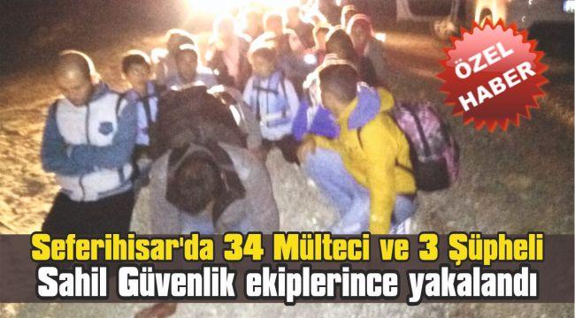 Seferihisar'da 34 Mülteci ve 3 Şüpheli Yakalandı