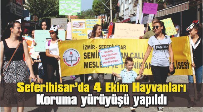 Seferihisar'da 4 Ekim Hayvanları Koruma yürüyüşü yapıldı
