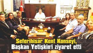 Seferihisar Kent Konseyi, Başkan Yetişkin'i ziyaret etti