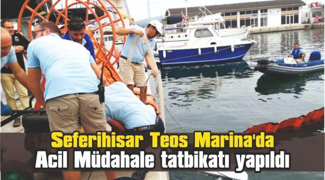 Teos Marina'da Acil müdahale tatbikatı yapıldı