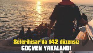 142 düzensiz göçmen yakalandı