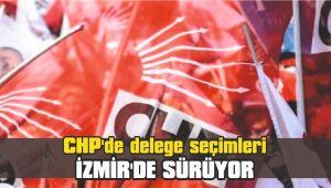 CHP'de delege seçimleri İzmir'de sürüyor