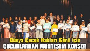 Dünya Çocuk Hakları Günü için çocuklardan muhteşem konser