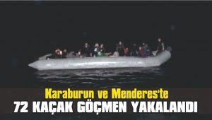 Karaburun ve Menderes'te 72 kaçak göçmen yakalandı
