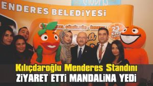 Kılıçdaroğlu Menderes Standını Ziyaret Etti Mandalina Yedi