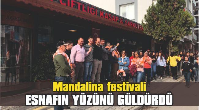 Mandalina festivali esnafın yüzünü güldürdü