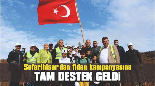 Seferihisar'dan fidan kampanyasına tam destek