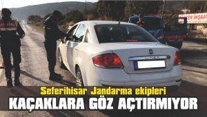 Seferihisar Jandarma ekipleri kaçaklara göz açtırmıyor