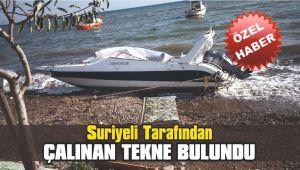 Suriyeli tarafından çalınan tekne bulundu