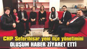 CHP Seferihisar yeni ilçe yönetimini Oluşum Haber ziyaret etti
