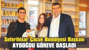 Seferihisar Çocuk Belediyesi Başkanı Aydoğdu göreve başladı