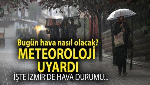 İzmir'de yağmur bitiyor, hava soğuyor
