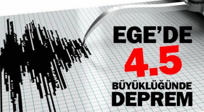 Manisa'da 4.5 büyüklüğünde bir deprem daha