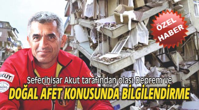 Seferihisar Akut tarafından olası Deprem ve doğal afet konusunda bilgilendirme