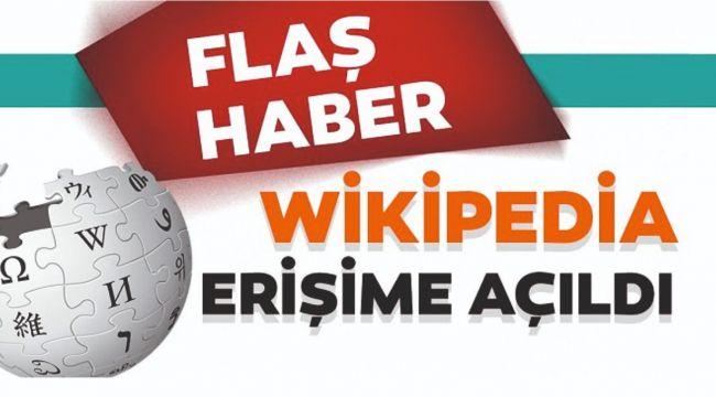 Türkiye'de Wikipedia erişime açıldı