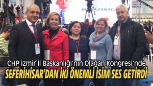 CHPİzmir İl Başkanlığı'nın Olağan Kongresi'nde Seferihisar'dan İki Önemli İsim Ses Getirdi