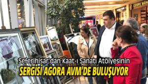 Seferihisar'dan Kaat-ı Sanatı Atölyesinin sergisi Agora AVM'de
