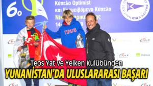Teos Yat ve Yelken Kulübünden Yunanistan'da Uluslararası Başarı