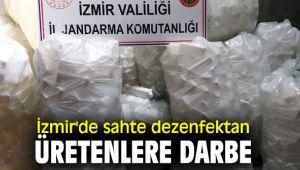 İzmir'de sahte dezenfektan üretenlere operasyon!