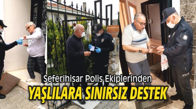 Seferihisar Polis Ekiplerinden Yaşlılara Sınırsız Destek