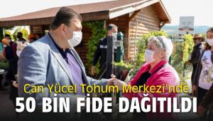 Can Yücel Tohum Merkezi'nde Seferihisar Belediyesi 50 bin fide dağıttı