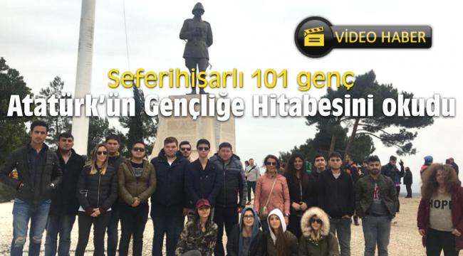 Seferihisarlı 101 genç Atatürk'ün Gençliğe Hitabesini okudu