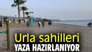 Urla sahilleri yaza hazırlanıyor