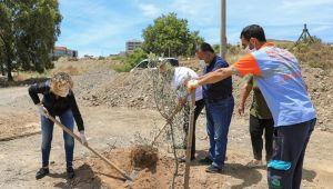 Dünya çevre gününde CHP Seferihisar ilçe örgütü fidan dikti