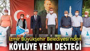 İzmir Büyükşehir Belediyesi'nden köylüye yem desteği