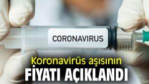 İşte koronavirüs aşısının fiyatı
