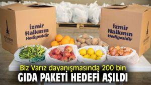İzmir'de Biz Varız dayanışmasında 200 bin gıda paketi hedefi aşıldı