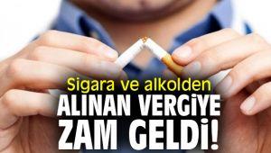 Sigara ve alkolden alınan vergiye zam geldi!