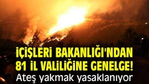 İçişleri Bakanlığı'ndan 81 il valiliğine genelge! Ateş yakmak yasaklanıyor