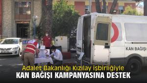 Adalet Bakanlığı Kızılay işbirliğiyle Kan Bağışı kampanyasına destek